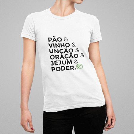 Camiseta Feminina - Receita da Fé
