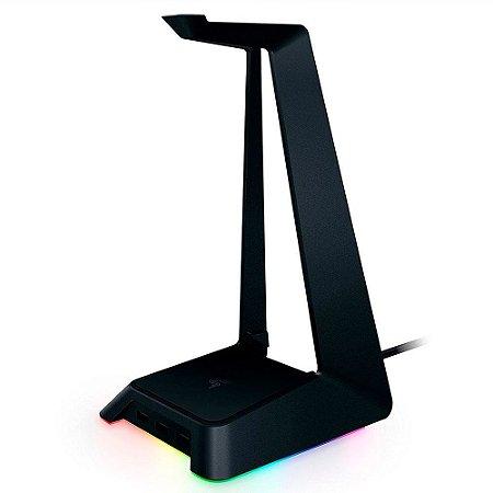 Razer Estação base V2 Chroma: Iluminação Chroma RGB - Base de borracha antiderrapante - Projetada para fones de ouvido de jogos - Preto clássico