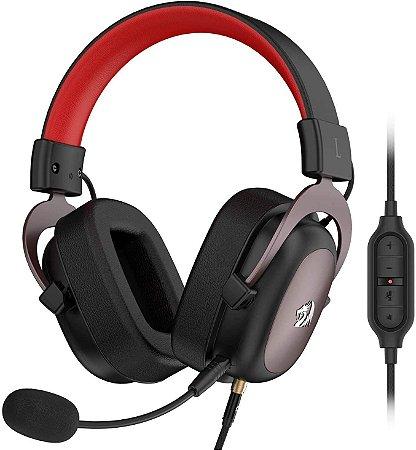 Fone de ouvido para jogos Redragon SIREN 2 H301, som surround 7.1 USB Fone de ouvido para computador Suporte com microfone para PC PS3 PS4 Fone de ouvido para jogos Redragon SIREN 2 H301, som surround 7.1 USB Fone de ouvido para computador Suporte com mi