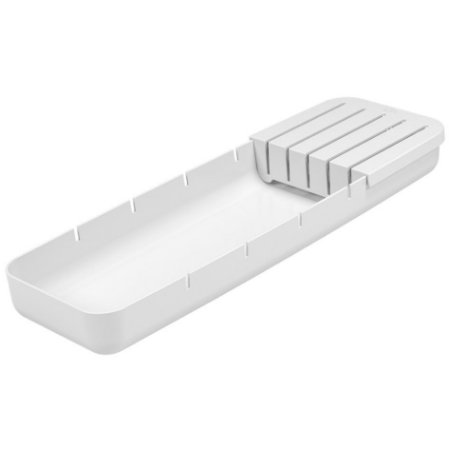 Organizador De Gavetas Divisor Suporte Porta Facas Talheres Perfect - 10982 Coza - Branco