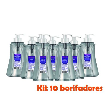 Kit 10 Dispenser Porta Álcool Gel Detergente Sabonete 280ml Organizador Plástico - Sanremo