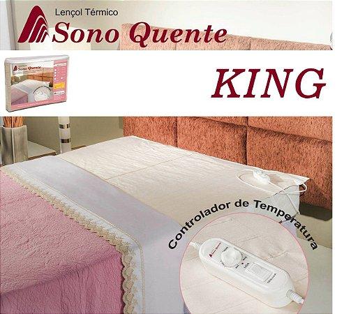 Lençol Térmico Casal King 16 Temperaturas Potenciômetro com Inmetro - Sono Quente - 220v