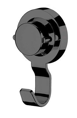 Cabide Gancho Multiuso Porta Toalha Com Ventosa Preto Onix 4054ox - Future
