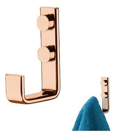 Cabide Suporte Multiuso para Toalha de Parede Rose Gold 2314rg - Future