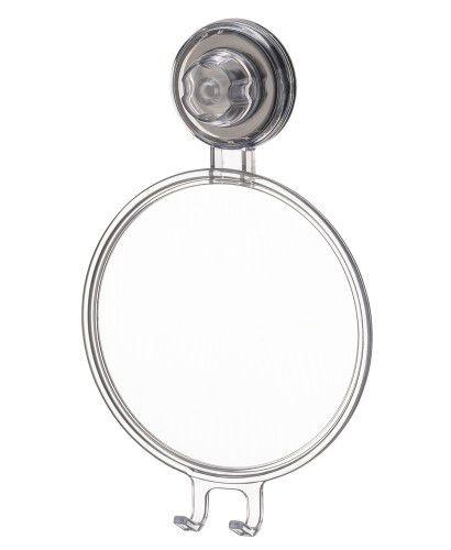 Espelho Anti Embaçante Ventosa Barbear Banho Prático Neutro 406NT - Future