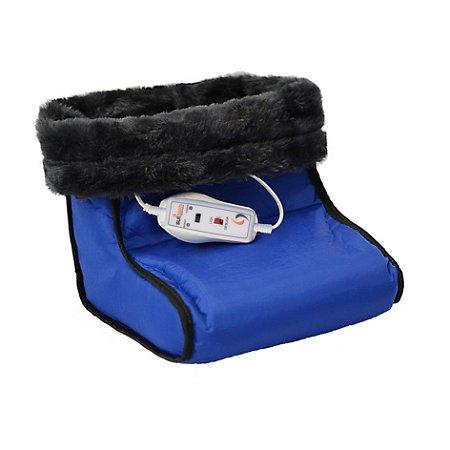 Bota Térmica Pantufa Nylon Elétrica Controle 2 Temperaturas Azul - Sulterm - 110v