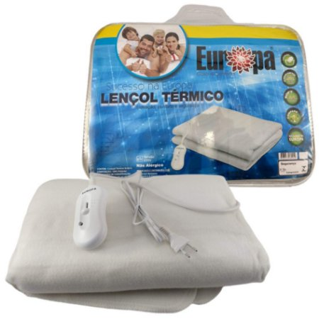 Lençol Térmico Solteiro Luxo 100% Soft Inmetro - Europa - 220v