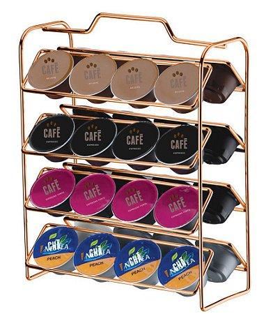 Organizador Porta 32 Cápsulas Café Dolce Gusto Rosé Gold 1145rg - Future