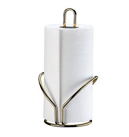 Porta Rolo Papel Toalha Suporte Bancada Cozinha Dourado Ouro - 1191DD Future