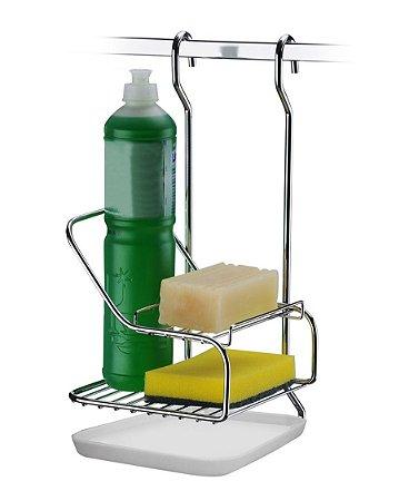 Porta Sabão Detergente Esponja Suporte De Barra Cozinha - 2422 Future