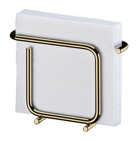 Porta Suporte Guardanapos Pequeno Aço Dourado Ouro - 1192DD Future