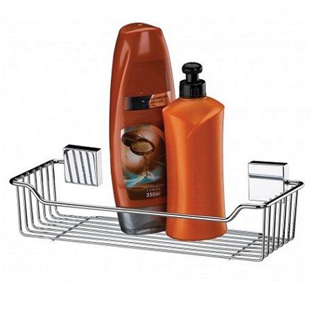 Porta Suporte Shampoo Sabonete Parede Aço Inox  - 7501 Future