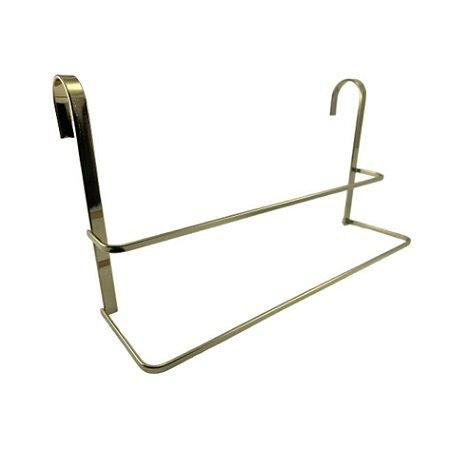 Porta Toalha Duplo Toalheiro de Box Aço Dourado 1612DD - Future