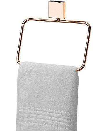 Porta Toalha Toalheiro Argola de Parede Rosé Gold 7507rg - Future