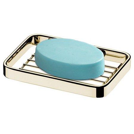 Saboneteira Parede Suporte Sabonete Dourado Ouro Banheiro 2302dd - Future