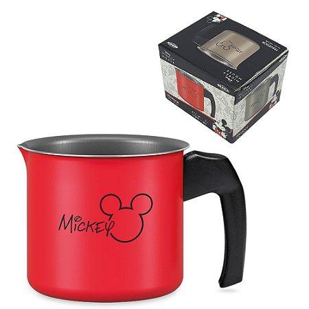 Panela Fervedor Leiteira Alumínio 1,2L Caneca Mickey Antiaderente Leite Cozinha - 7222/366 Brinox - Vermelho