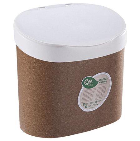Lixeira Bios 4 Litros Madeira Acessório Organizador Pia Cozinha Banheiro - Coza