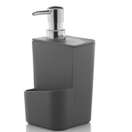Dispenser Porta Detergente Esponja 650ml Pia Cozinha Trium - DT 500 Ou - Chumbo