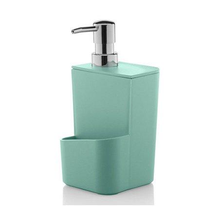 Dispenser Porta Detergente Esponja 650ml Pia Cozinha Trium - DT 500 Ou - Verde Menta