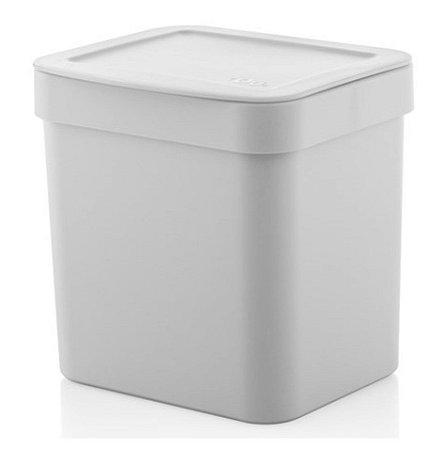 Lixeira Trium 2,5 Litros Porta Cesto De Lixo Cozinha Pia - LX 500 Ou - Branco