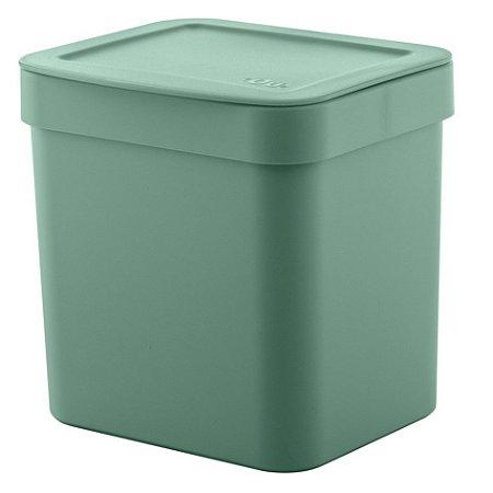 Lixeira Trium 2,5 Litros Porta Cesto De Lixo Cozinha Pia - LX 500 Ou - Verde Menta