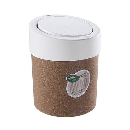 Lixeira Click 5 Litros Bios Cesto De Lixo Automático Pia Cozinha Press - 40908 Coza - Branco