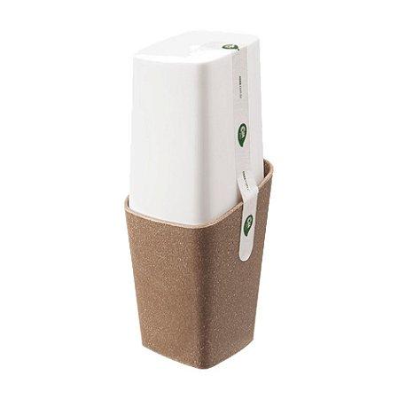 Porta Escova De Dente Creme Dental Com Tampa Bios Pia Banheiro - 40421 Coza - Branco