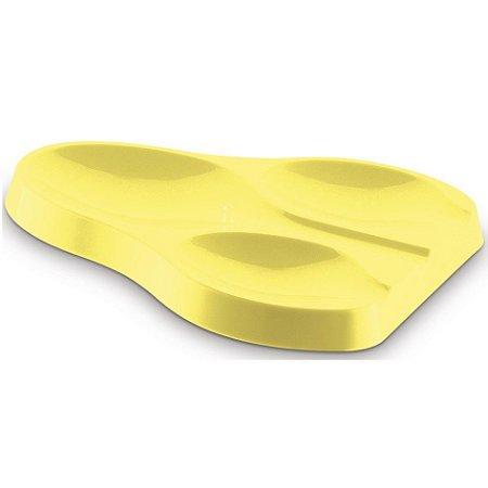 Suporte Apoio Triplo Descanso Colher Talheres Pia Bancada Cozinha Plus - UZ325 Uz - Amarelo