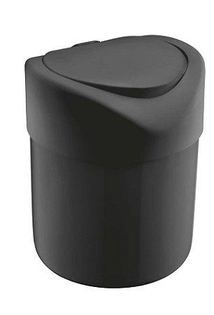 Lixeira Plástica 4 Litros Tampa Abertura Manual Pia Cozinha Banheiro - UZ363 Uz - Preto