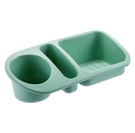 Organizador De Pia Suporte Porta Detergente Esponja Sabão Cozinha Plus - UZ322 Uz - Verde Menta