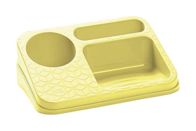 Organizador De Pia Suporte Porta Detergente Esponja Sabão Cozinha Bancada - UZ395 Uz - Amarelo