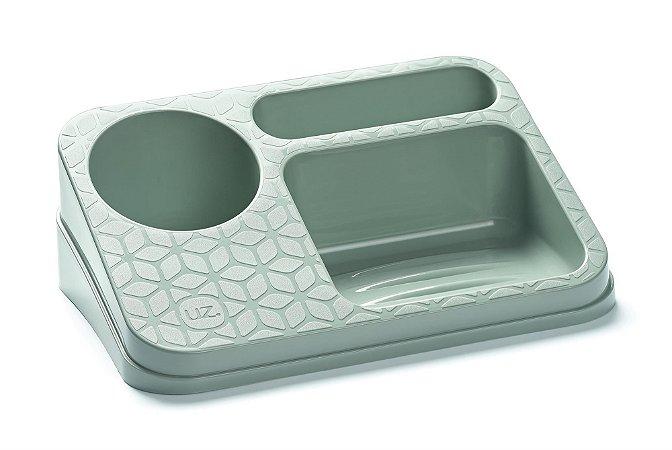 Organizador De Pia Suporte Porta Detergente Esponja Sabão Cozinha Bancada - UZ395 Uz - Verde Menta