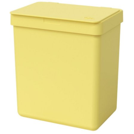 Lixeira 2,5L Cesto De Lixo Bancada Pia Cozinha Escritório - 17009 Coza - Amarelo
