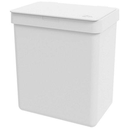 Lixeira 2,5L Cesto De Lixo Bancada Pia Cozinha Escritório - 17009 Coza - Branco