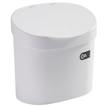 Lixeira 4L Cesto De Lixo Com Tampa Para Pia Cozinha - 10902 Coza - Branco