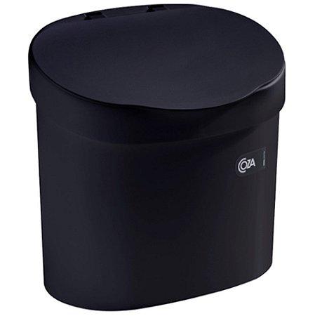 Lixeira 4L Cesto De Lixo Com Tampa Para Pia Cozinha - 10902 Coza - Preto