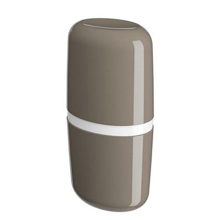 Porta Escova De Dente Creme Dental Com Tampa Full Pia Banheiro - 10447 Coza - Cinza