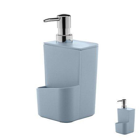 Dispenser Porta Detergente Esponja 650ml Pia Cozinha Trium - DT 500 Ou - Azul Glacial