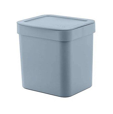 Lixeira Trium 2,5 Litros Porta Cesto De Lixo Cozinha Pia - LX 500 Ou - Azul Glacial