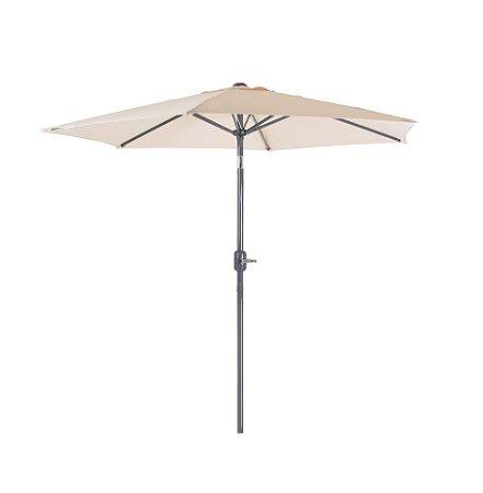 Ombrelone Guarda Sol 2,4m Aluminio Manivela Articulado Jardim Piscina 009222 Mor - Bege