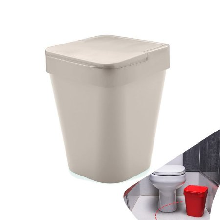 Lixeira Izzy 10 Litros Pia Cozinha Banheiro Lavabo Bancada - LX 215 Ou