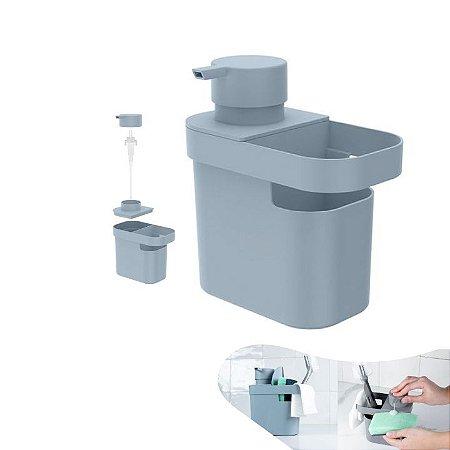Dispenser Porta Detergente Líquido Organizador Pia Esponja Cozinha - DT 550 Ou