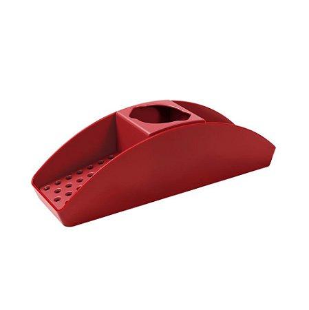 Organizador De Pia Suporte Porta Detergente Esponja Basic - 10862 Coza - Vermelho