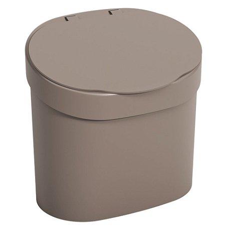 Lixeira 4L Cesto De Lixo Com Tampa Para Pia Cozinha - 10902 Coza - Cinza