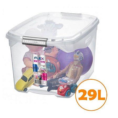 Caixa Organizadora 29l Multiuso Porta Utensílios Closet Roupas Brinquedo - SR941 Sanremo