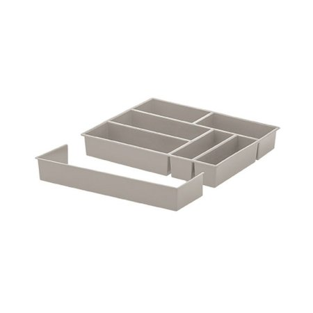 Organizador De Gaveta Extensível Divisor Talheres Utensílios 40x33x6,5cm - Paramount - Creme