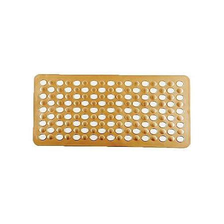 Tapete Box Antiderrapante Banho Chuveiro Ventosa Banheiro 69x37cm - 768 Paramount  - Bege