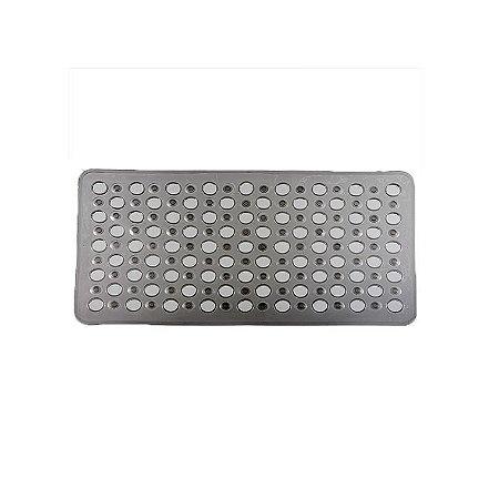 Tapete Box Antiderrapante Banho Chuveiro Ventosa Banheiro 69x37cm - 768 Paramount  - Fumê