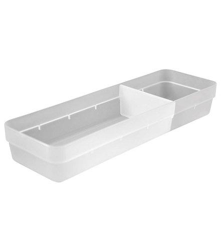 Organizador De Gavetas Plástico Divisor Objetos Talheres Cozinha Quarto - OL 500 Ou - Natural