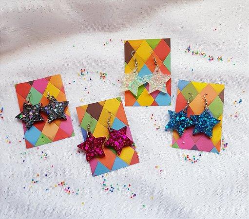 Brinco Star Glitter